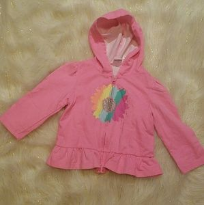 🌻 Pink Zip Up Sweater Size 18 Months